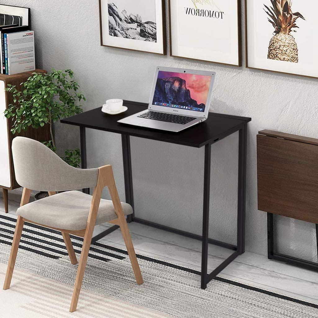 Simpleness Study Desk Folding Laptop Table for Home Office Desk
