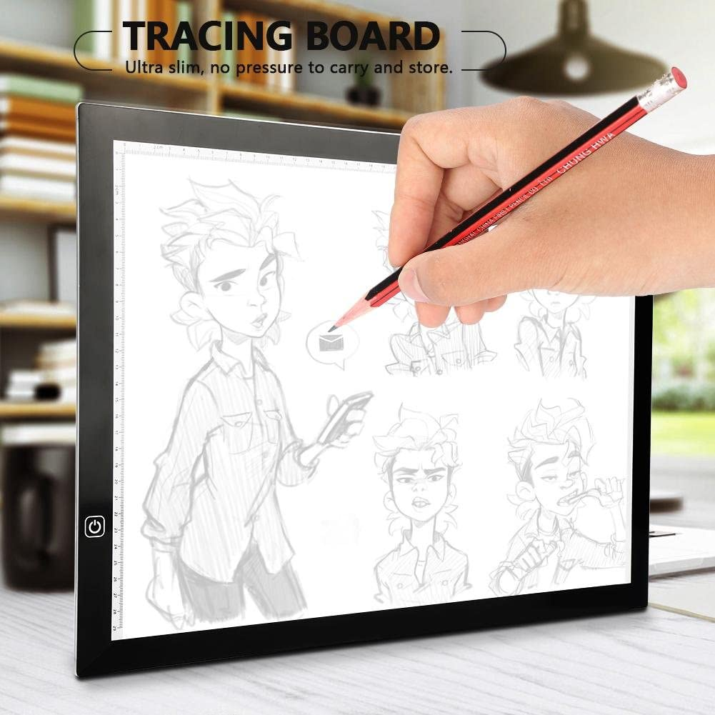 A3 LED Tracing Light Box Stencil Drawing Board with 10 Papers Pattern Art Design Pad Supply for Artists,Drawing, Sketching, Animation