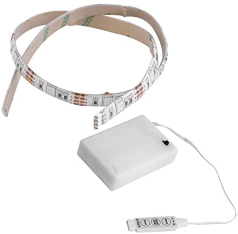 4.5V Battery Operated 50CM RGB LED Strip Light Waterproof Craft Hobby Light with Battery Box