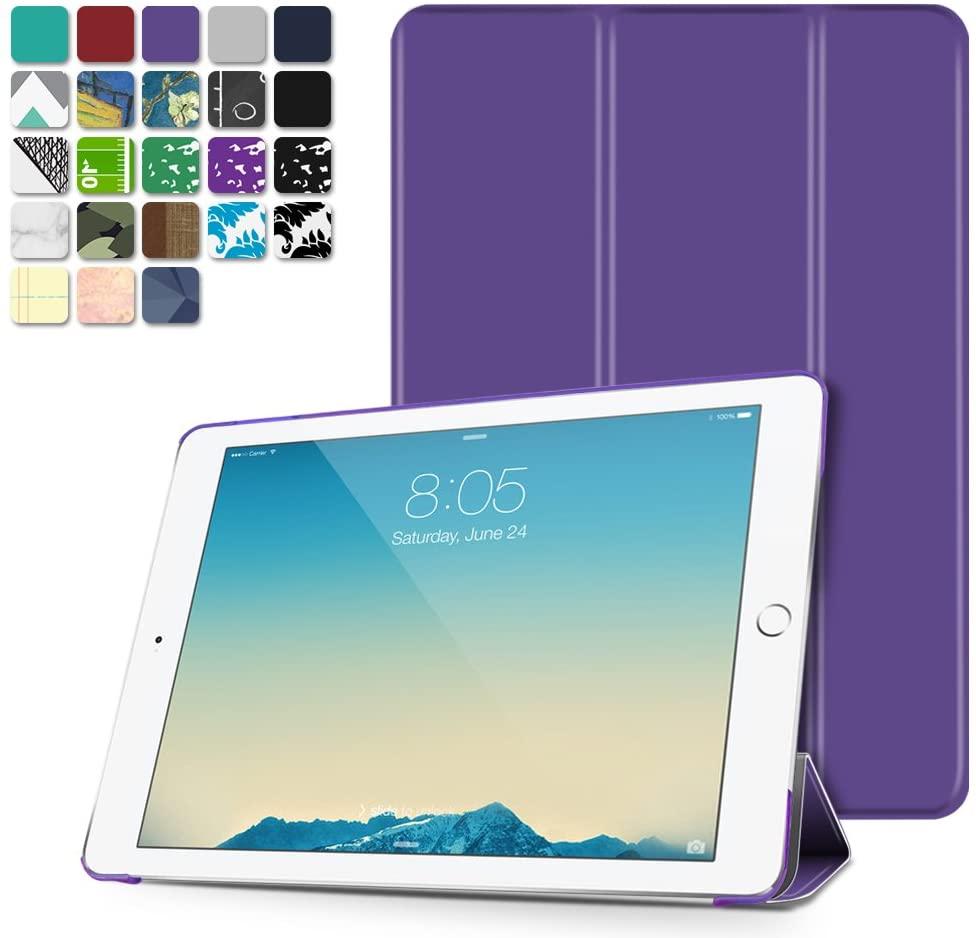 TNP iPad Mini 1/2/3 Case - Slim Lightweight Shell Smart Cover Stand, Hard Back Protection with Auto Sleep Wake for Apple iPad Mini 1/2/3 (Purple)
