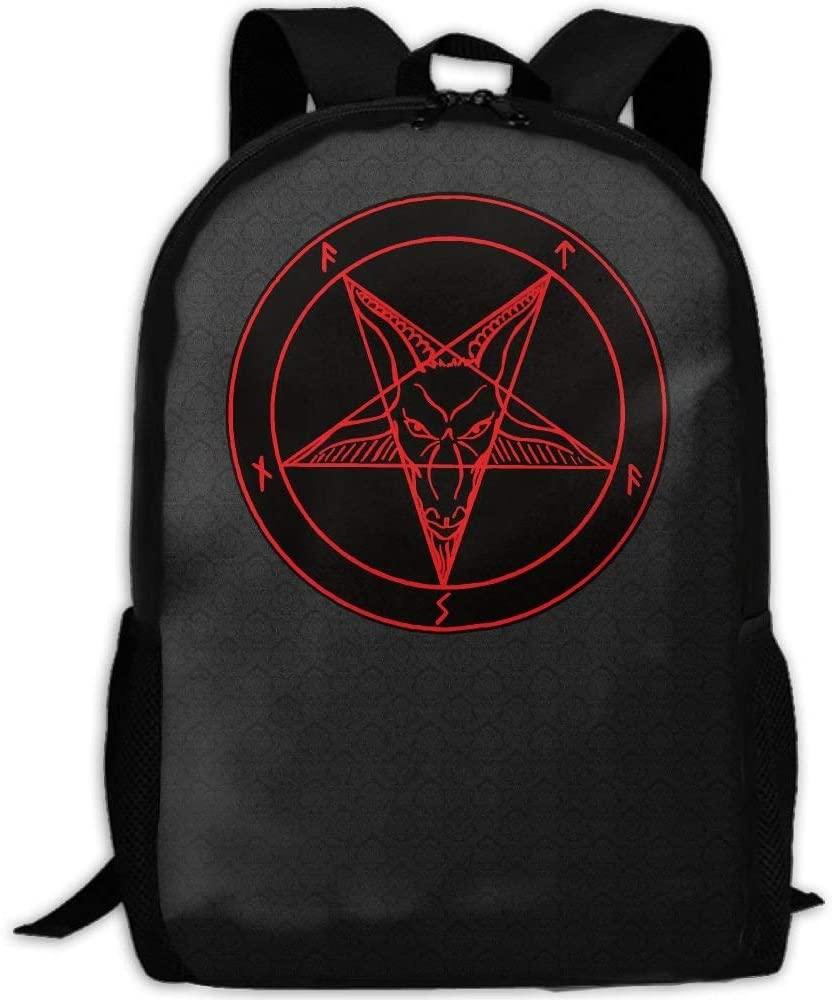 Satanic Symbol Star Interest Print Custom Unique Casual Backpack School Bag Travel Daypack Gift