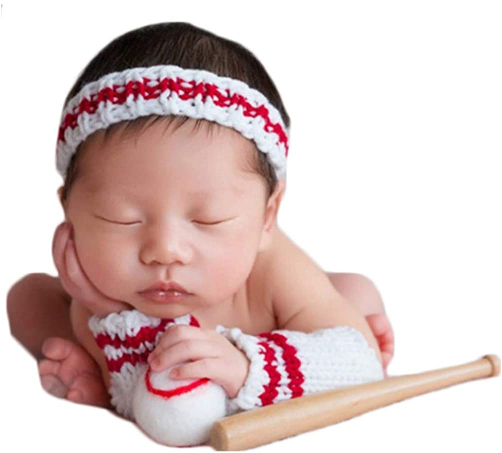Baby Photography Props Newborn Photo Shoot Outfits Infant Headband Socks Ball for Boy Girls Photo Props