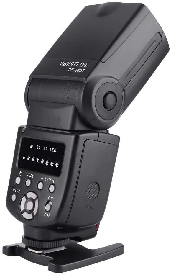 Pomya Professional Speedlite, 15M Wireless Camera Flash, Universal On-Camera Flash GN50 Speedlite Fill Light for Canon, Nikon, Sony, Panasonic,etc