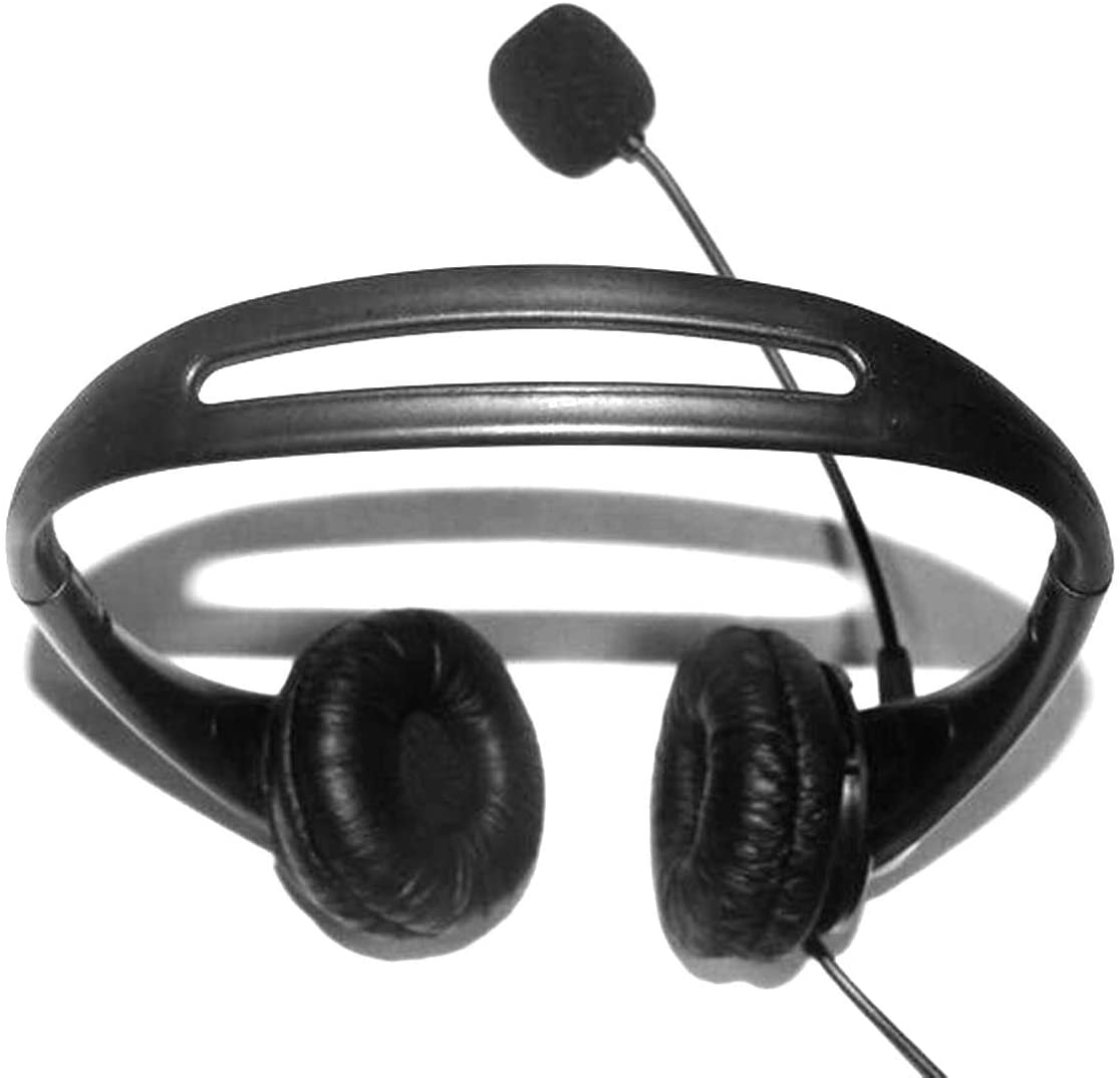 DaMohony USB Wired Headset, On-Ear Headphone with Noise Concealing Microphone for Laptop Desktop Corded Telephone