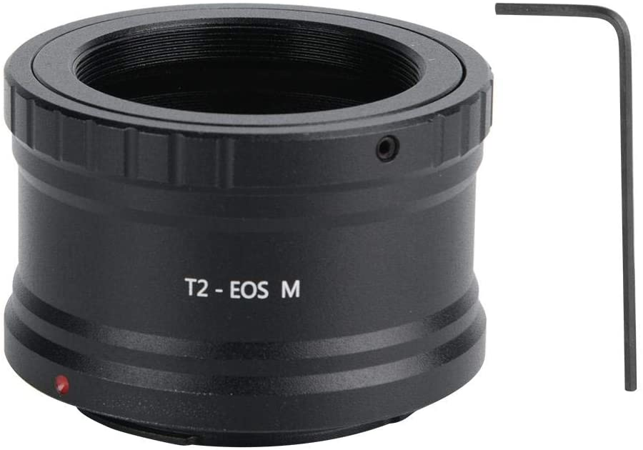 Mugast T2-EOS Telescope Lens Adapter, Aluminum Alloy Telescope Eyepiece Mount Adapter for Canon Mirrorless Camera EOS M