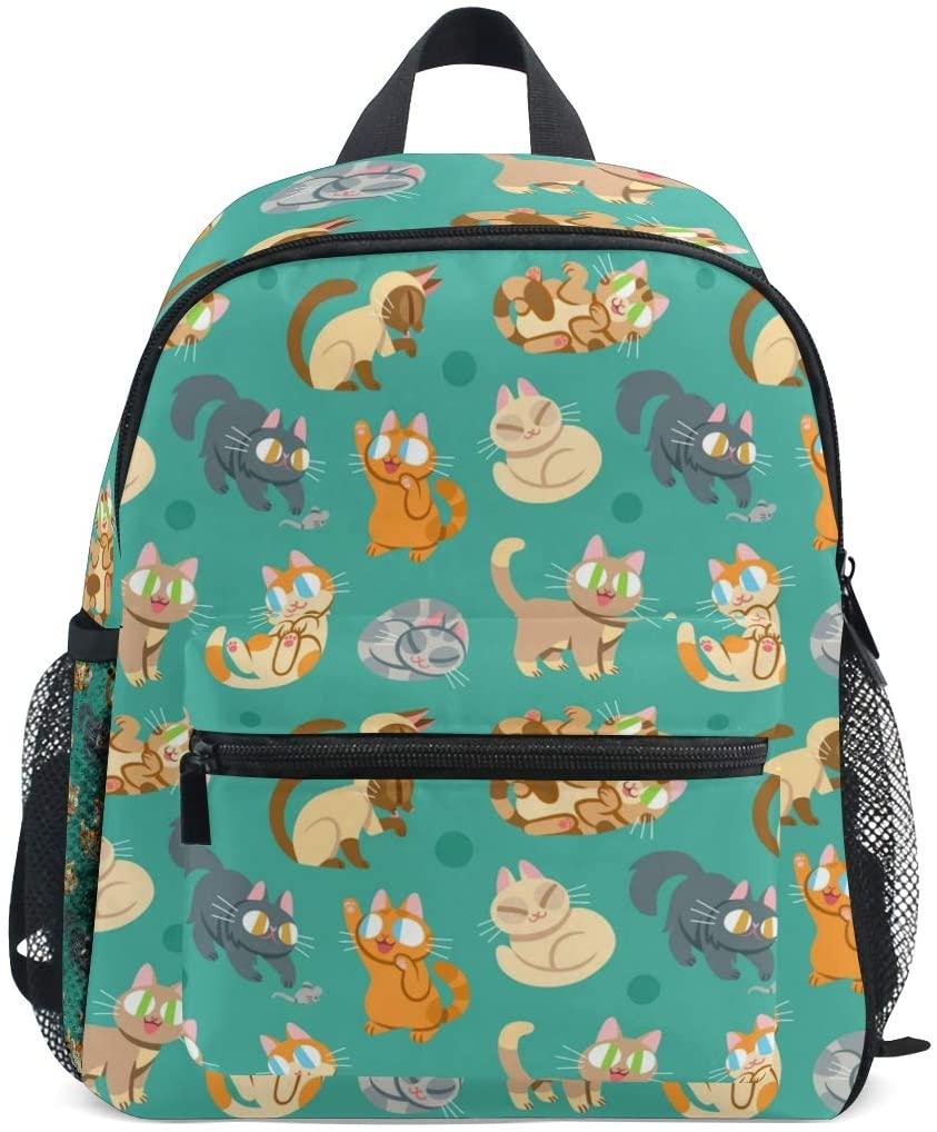 Kids School Bag Backpack Funny Cat Children Bookbag