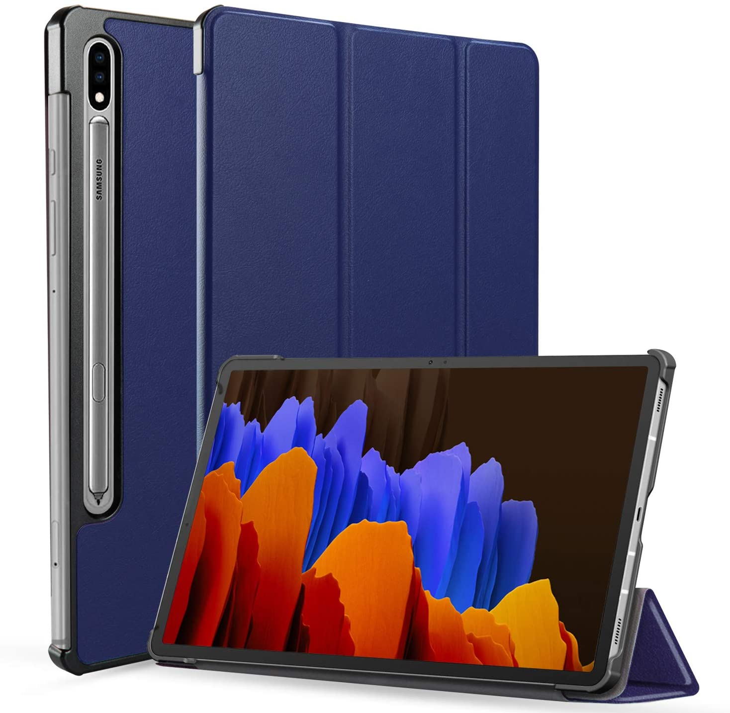 Neepanda Case for Galaxy Tab S7 Plus 12.4 Inch, Slim Tri-Fold Smart Case Cover for Samsung Galaxy Tab S7 Plus 12.4-inch 2020 Release Model SM-T970/T975/T976, [Auto Wake/Sleep] - Blue