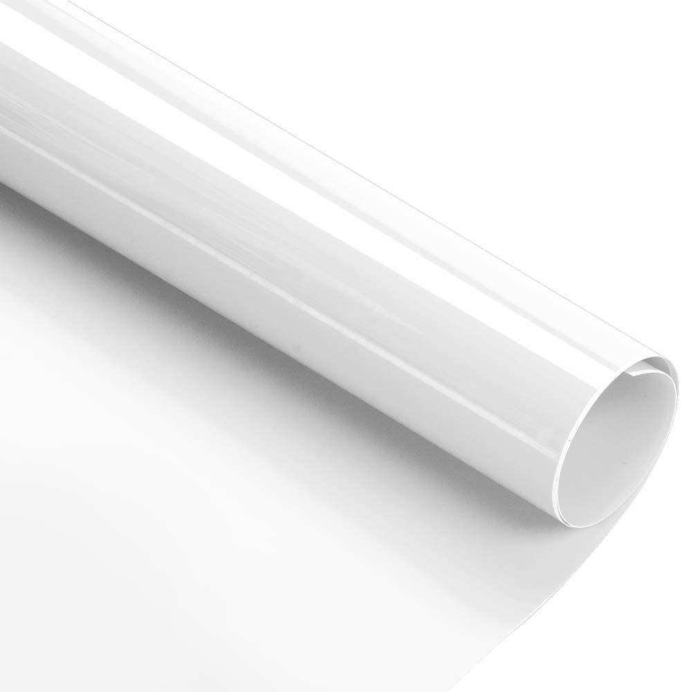 Kenteer 12x10ft Heat Transfer Vinyl Roll, Iron on HTV Compatible with Cricut Easy to Cut & Weed, HTV Iron on Vinyl for DIY T-Shirts Garments Bags and Other Fabrics(White)