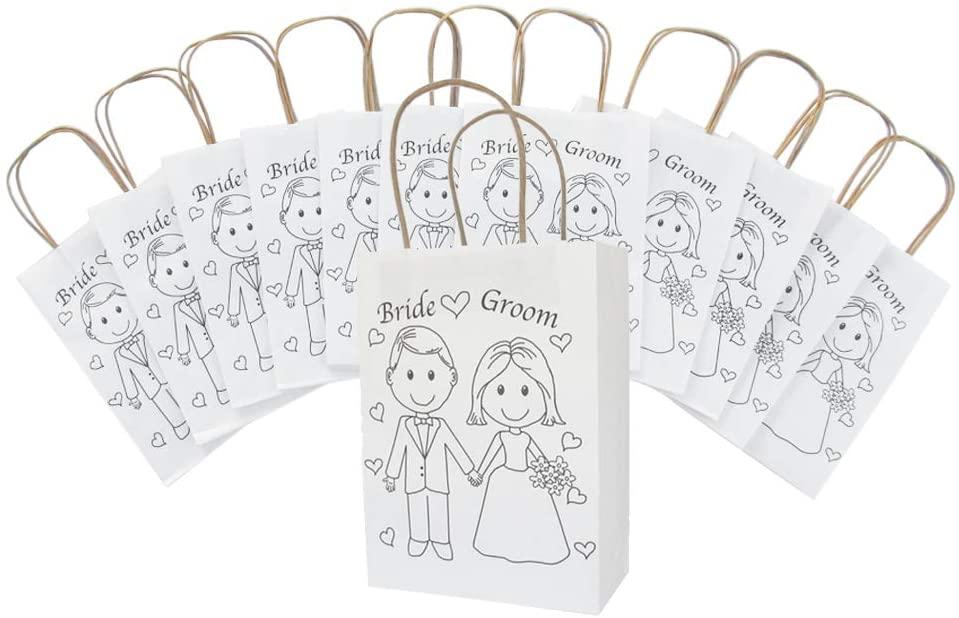 "Wedding Welcome Bags – Wedding Favor Bags – Wedding Gift Bags –Wedding Favor Bags for Kids – Size 9' x 6.25' x 3.25"" (12) Bags"