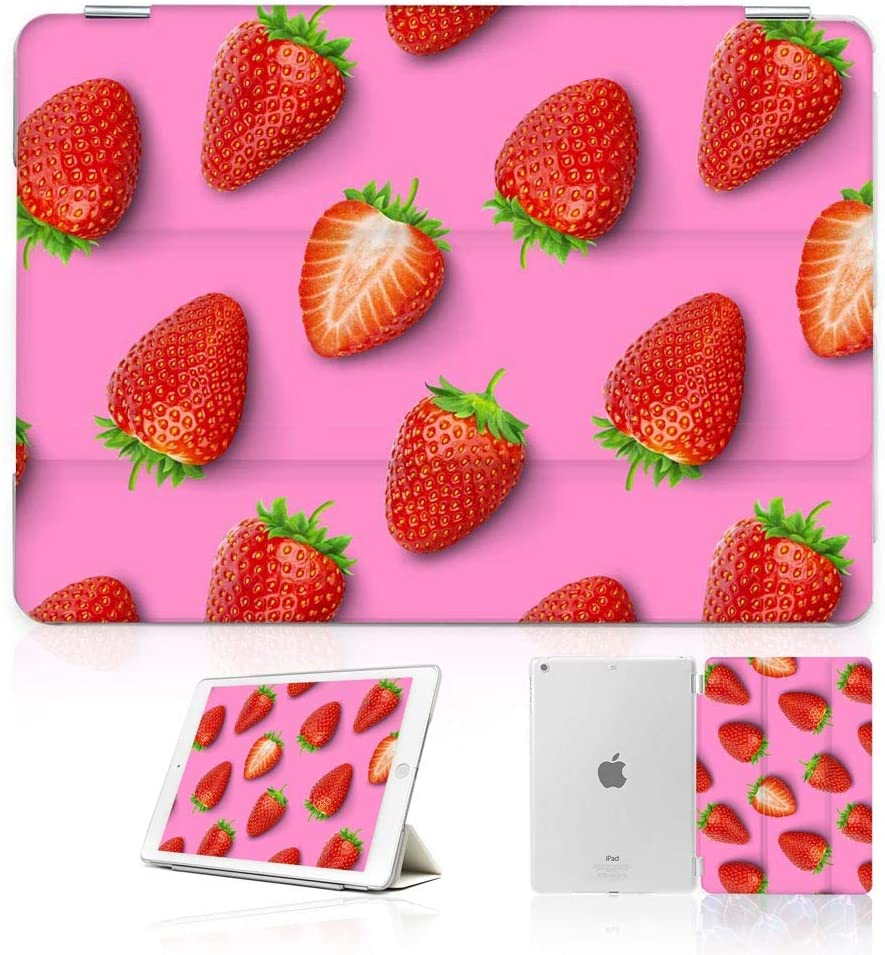 for iPad Air 3 10.5 Inch, and for iPad Pro 10.5 Inch 2017 Model, Designed Smart Case Cover, SMART40048 Strawberry