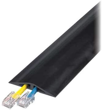 Cable Protector, 2 Channels, Black, 10 ft.L