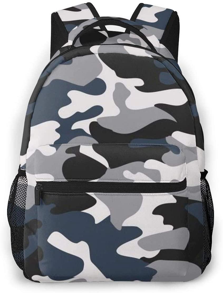 Fashion Backpack for Girls Boys Camo Print Cute School Bag Bookbag Daypack