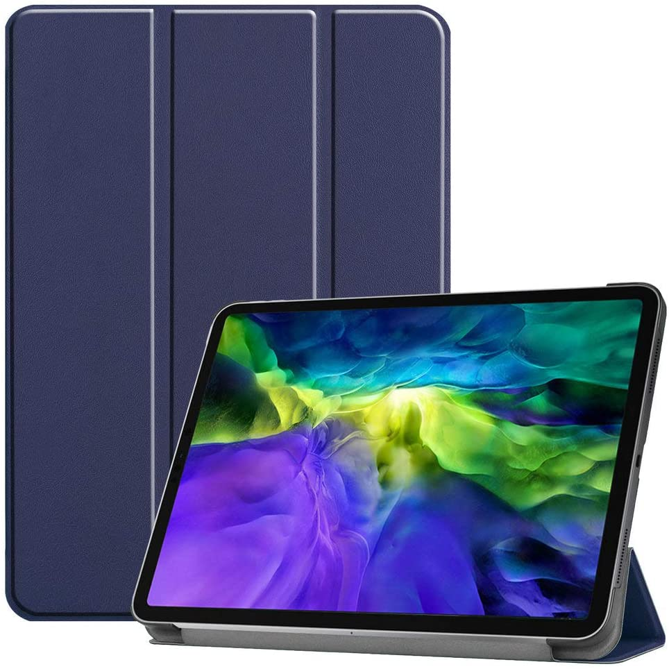 Kepuch Custer Case for iPad Pro 11 2020 2018,Ultra-Thin PU-Leather Hard Shell Cover for iPad Pro 11 2020 2018 - Blue