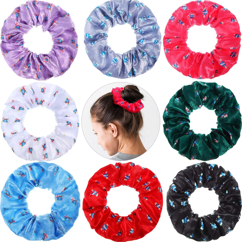 8 Pieces Nurse Hair Scrunchies Nurse Velvet Hair Elastics Nurse Hair Ties Nurse Hair Accessories for Nurse Women Girls