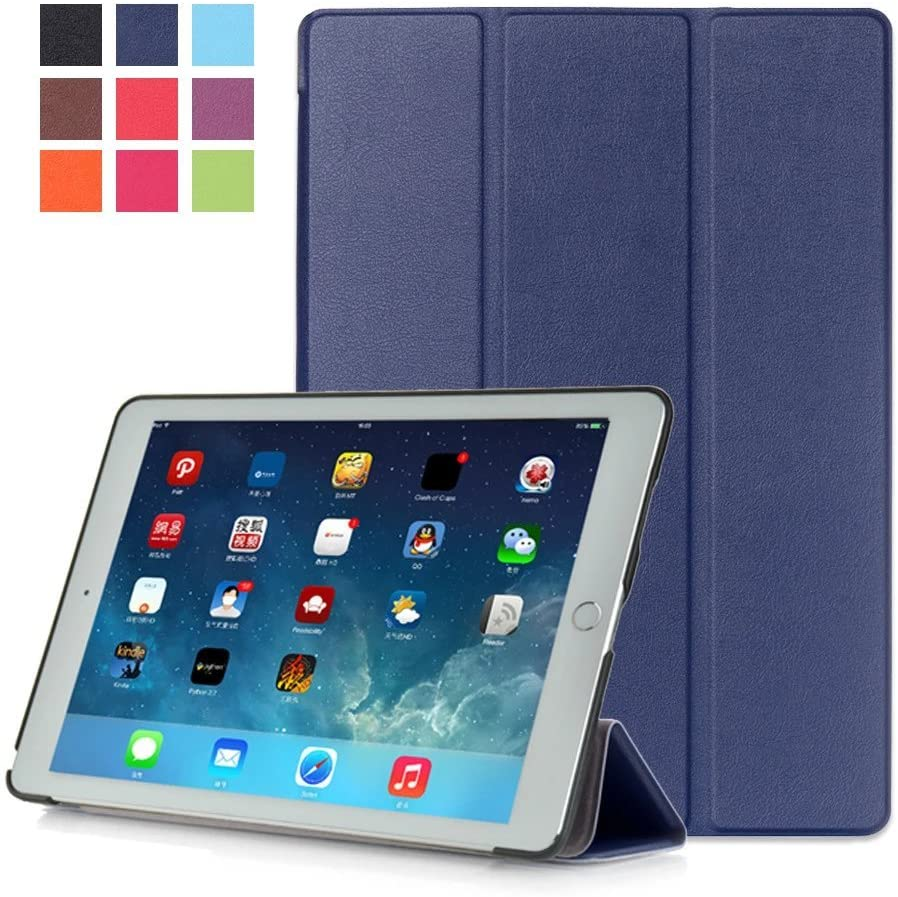 Kepuch Custer Case for iPad Pro 9.7,Ultra-Thin PU-Leather Hard Shell Cover for iPad Pro 9.7 - Blue