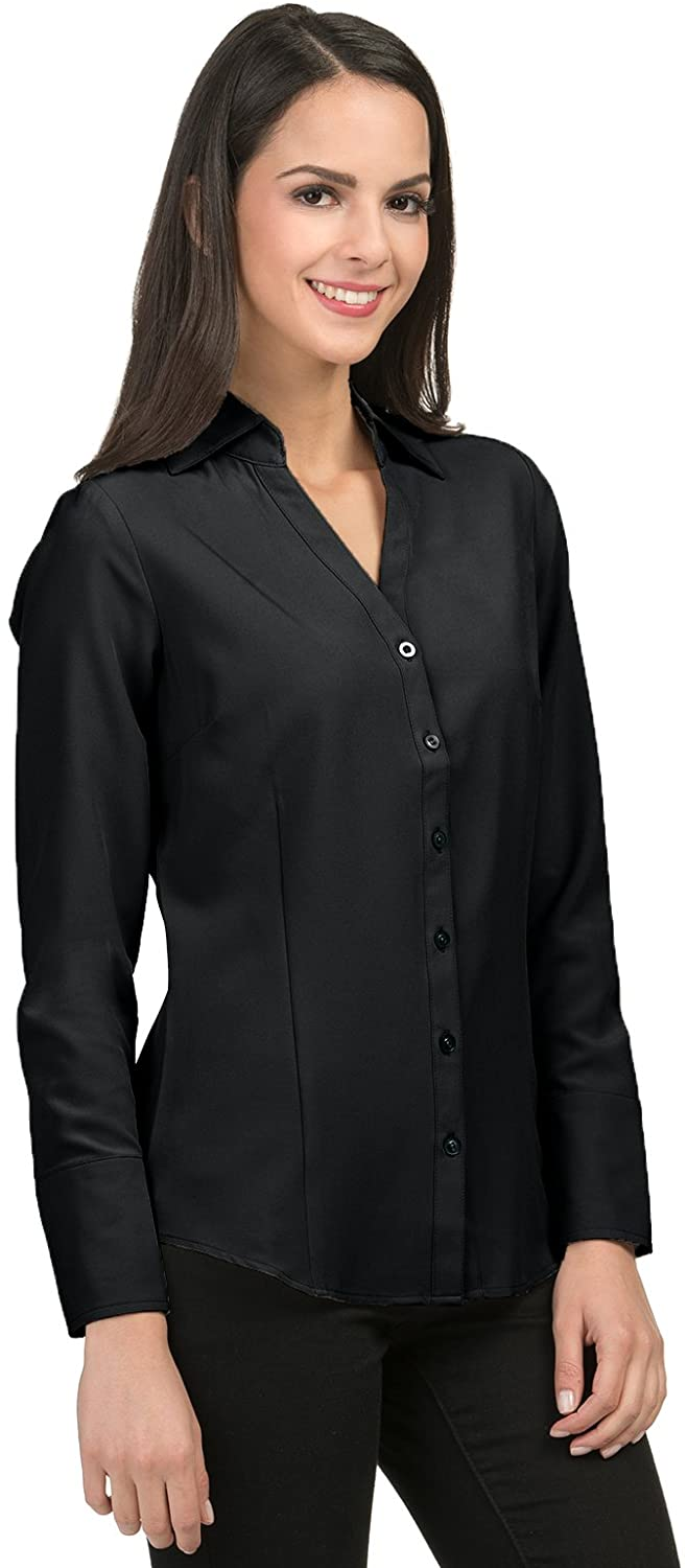Averill's Sharper Uniforms Women's Ladies Fitted Cocktail Blouse