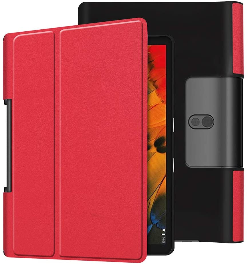 Fosheng Case for Lenovo Yoga Tab 5 Yt-X705 10.1 Inch Tablet 2019 - Two-fold Stand Hard Case Cover Shockproof Anti-Fall Shell