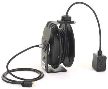 Retractable Cord Reel with 50 ft. Cord 2-Outlet 12/3