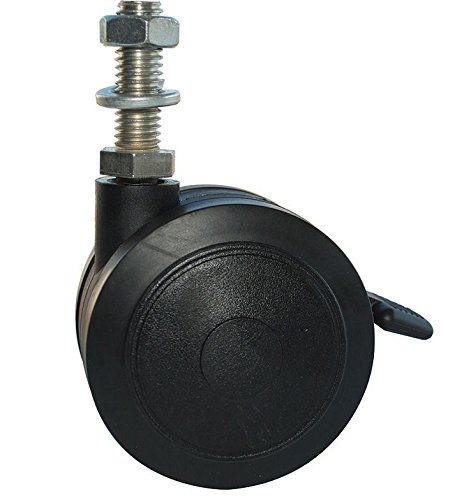 MJM International R5TW Replacement 5 in. Twin Nylon Threaded stem casters