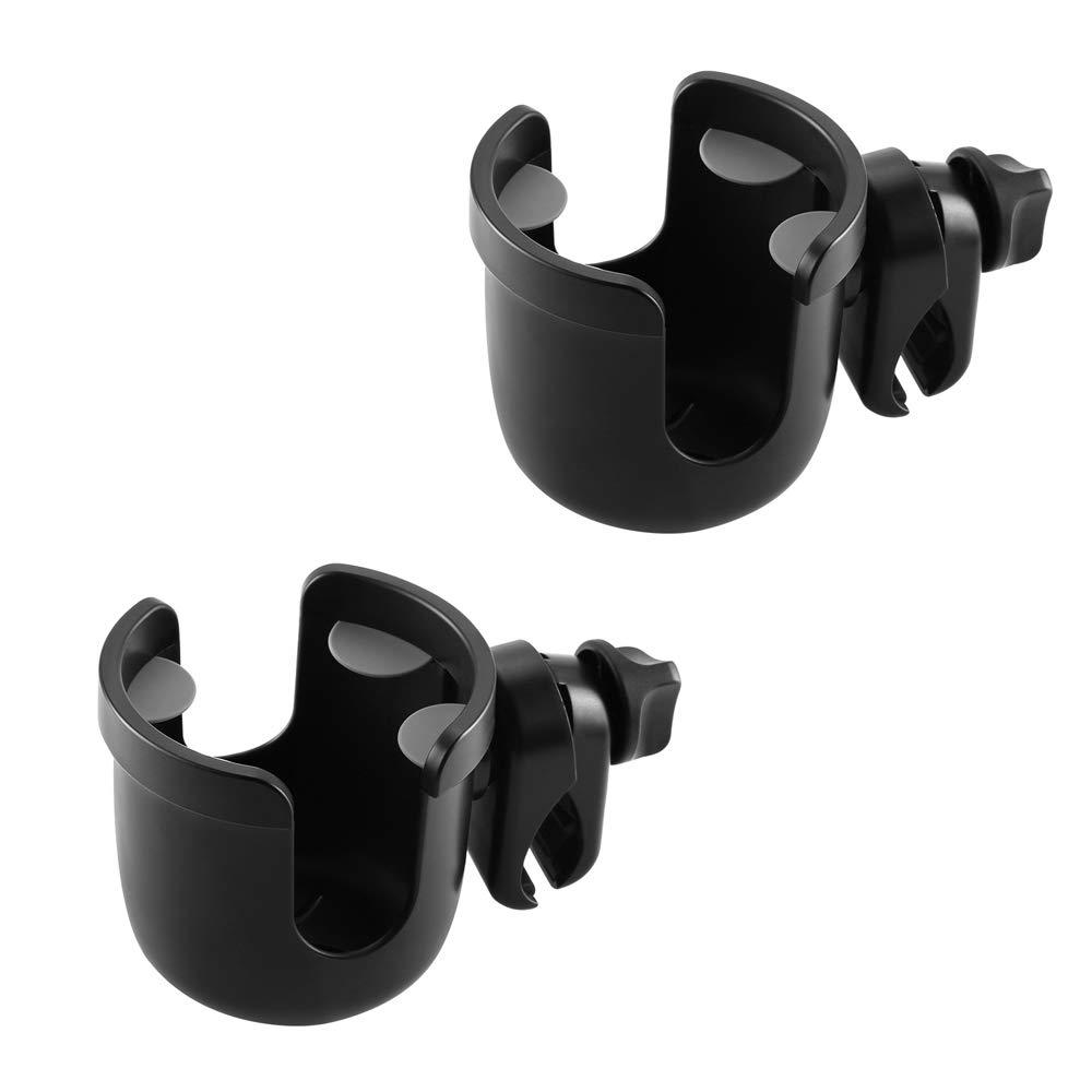 Accmor Stroller Cup Holder, Universal Cup Holder, Large Caliber Designed Cup Holder for Bottle with Handle, 360 Degrees Universal Rotation Bottle Holder for Stroller, Pushchair,Wheelchair, Walker