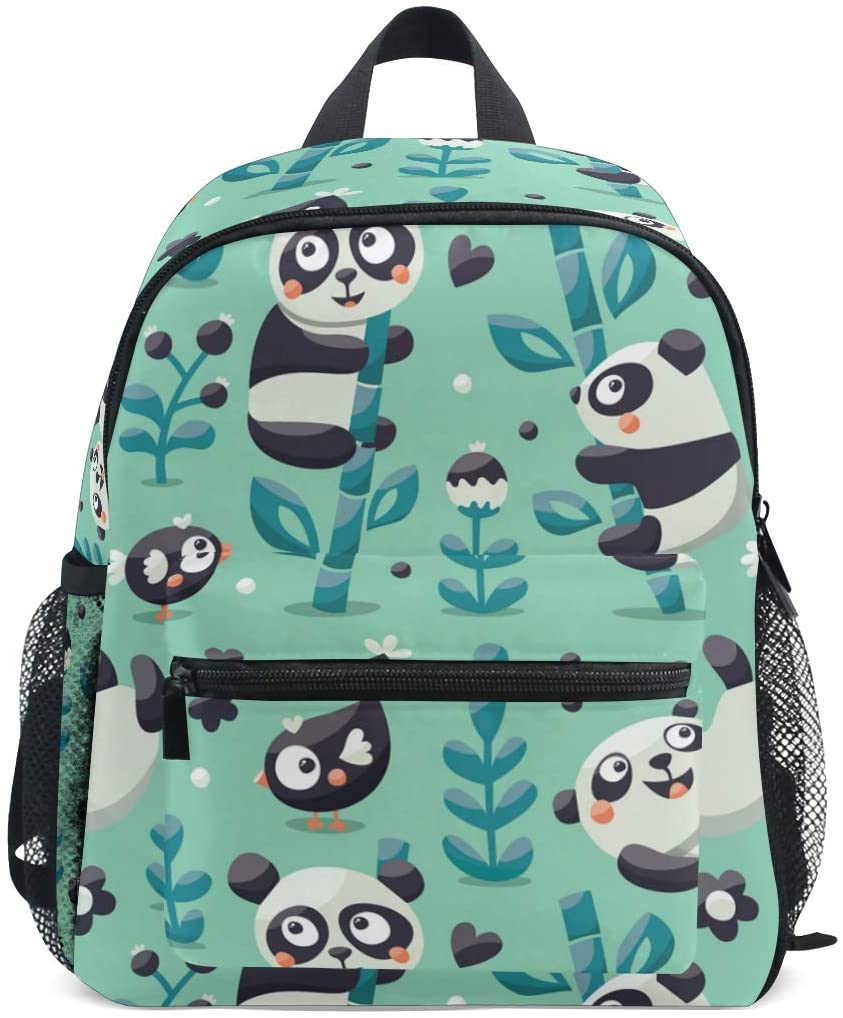 Toddler Backpack Panda Bamboo Preschool Backpack Travel Bag for 3-8 Years Baby Girl Boy