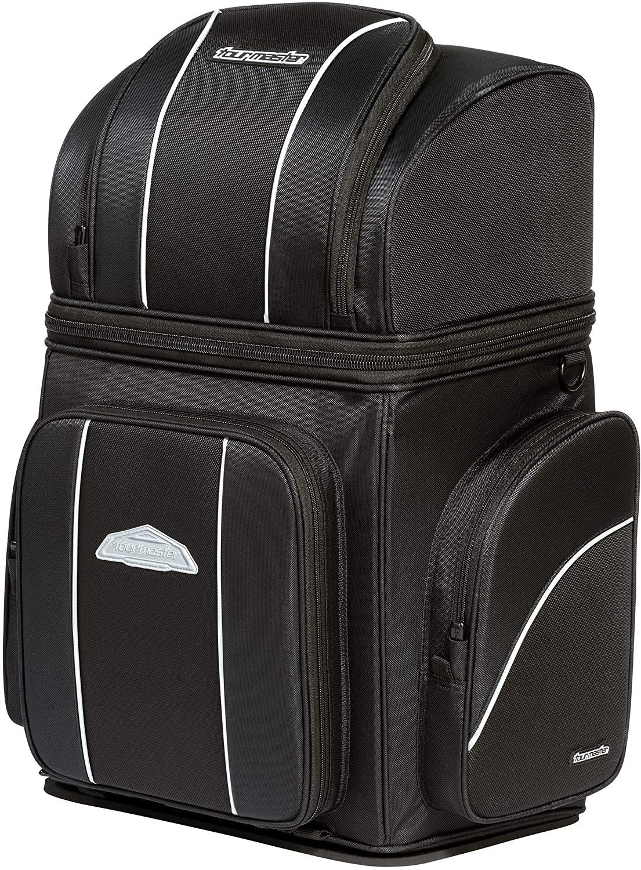 Tour Master NC 4 Nylon Sissybar Street Motorcycle Tail Bags - Black/X-Large