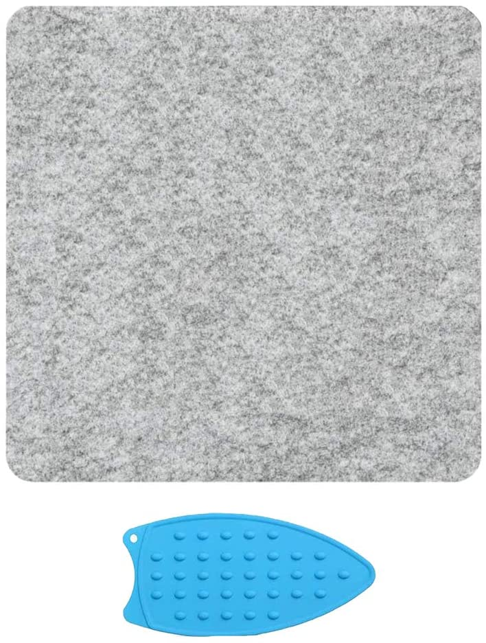 Wool Pressing Mat 10 X 10 inches Wool Ironing Pad for Quilting Perfect for All Ironing Station— Grey