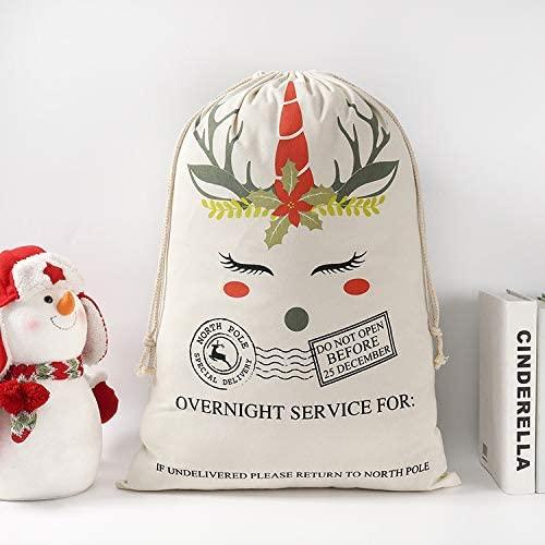 boyspringg Christmas Santa Sack Stocking North Pole Mail Xmas Personalized Gift Bags Name Space Drawstring Presents Bags 70 x 50 cm