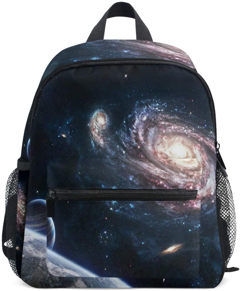 Space Galaxy Backpacks for Girls Boys Kids School Bag Supplies Swirl Stars Trail Vast Universe Amazing Lighting Waterproof Cute Bookbags Preschool Elementary School Bags for 1th 2th 3th Grade