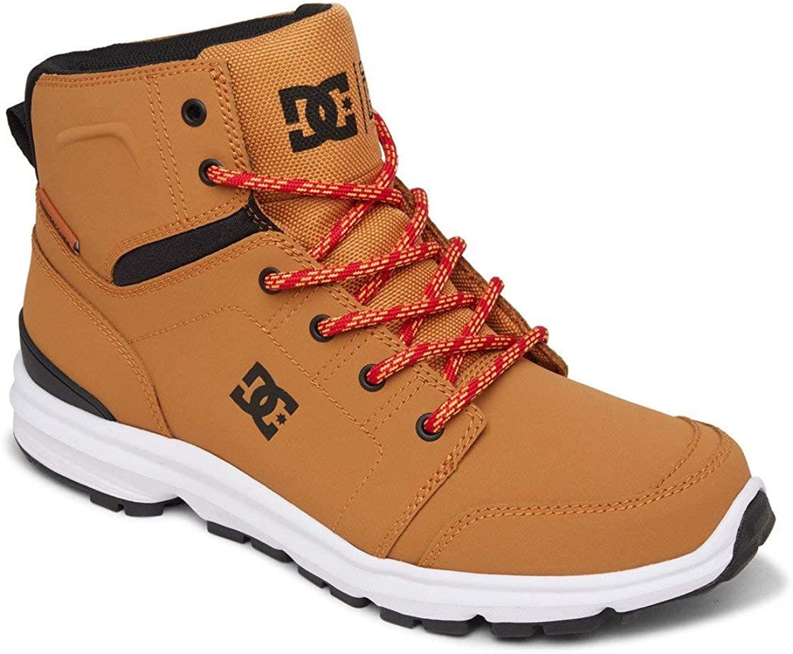 DC Shoes Men's Hi-Top Trainers Sneaker, Wheat Black, US:7.5