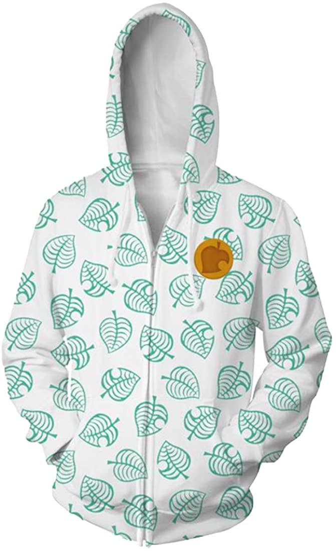 Coslover Unisex 3D Printed Hoodies Hooded Sweatshirt Jacket Mens&Women