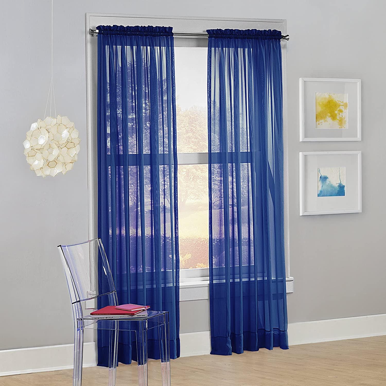No. 918 Calypso Sheer Voile Rod Pocket Curtain Panel, 59