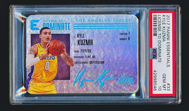Kyle Kuzma 2017-18 Panini Essentials License to Dominate RC Die Cut PSA 10 - Panini Basketball Cards