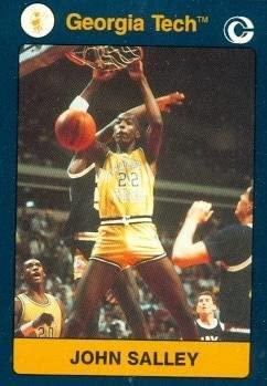 John Salley Basketball card (Georgia Tech) 1991 Collegiate Collection #58