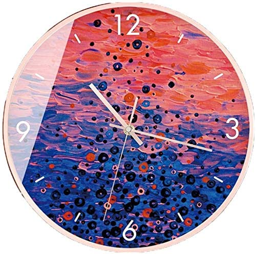 Shoe Store Mute Wall Clock, 30-35.5CM Daily Necessities Store Convenience Store Restaurant Wall Clock(Color : C, Size : 35.5 35.5CM)
