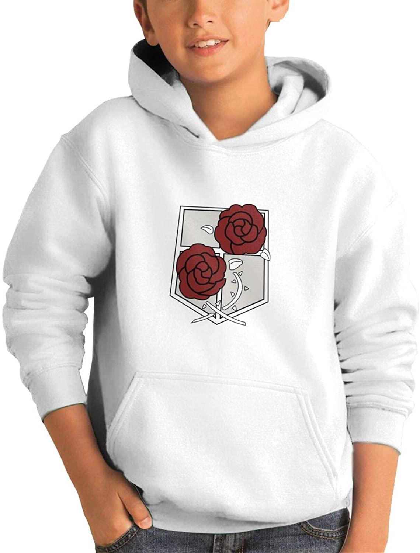 Attack-on-Titan-Rose Men's Hooded Long-Sleeve Fleece Sweatshirt with Pocket