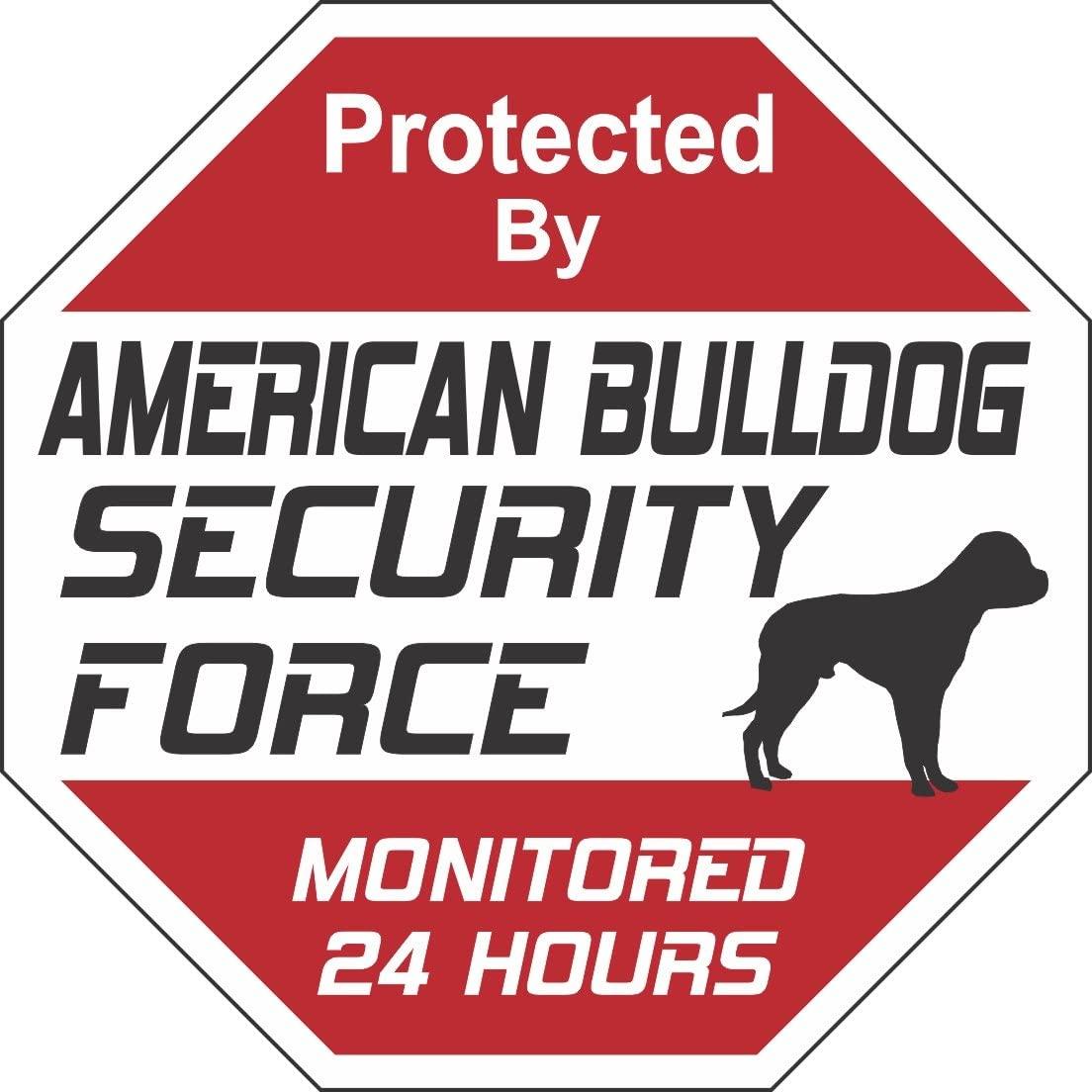American Bulldog Dog Security Force Sign