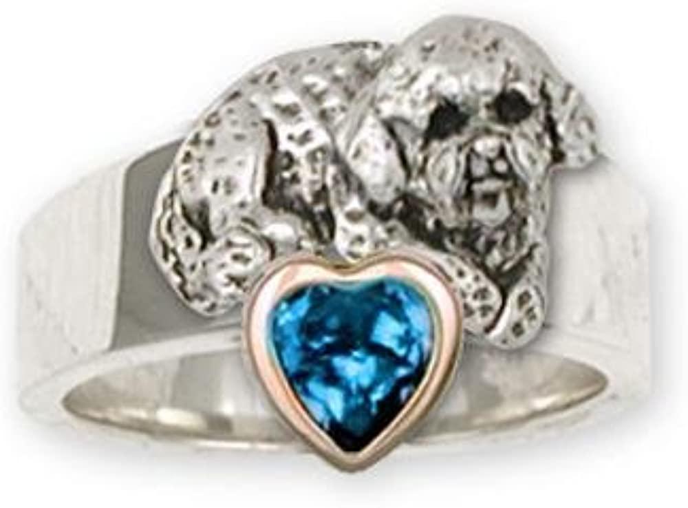 Bichon Frise Jewelry Sterling Silver Bichon Frise Ring Handmade Dog Jewelry BF11-SR