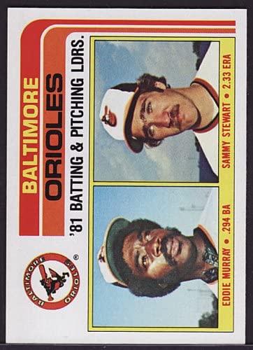1982 Topps 426 Orioles TL / Eddie Murray (Baseball Cards) Baltimore Orioles