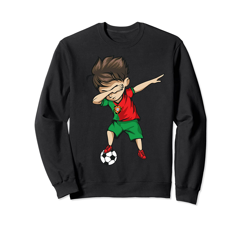 Dabbing Soccer Boy Portugal Jersey Portuguese Football Sweatshirt
