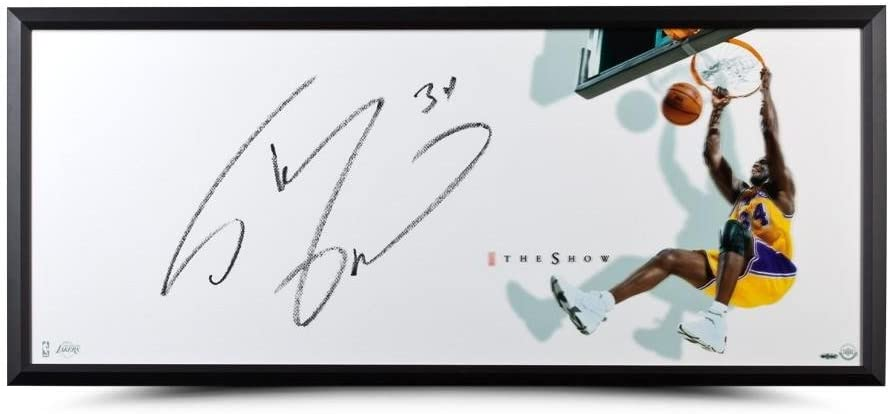 """Shaquille O'Neal Autographed """"The Show"""" 46 x 20 Framed - Upper Deck - Basketball Autographed Cards"""