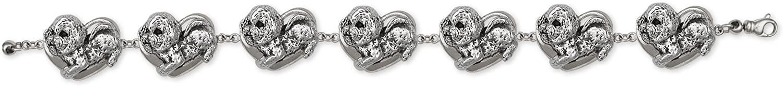 Bichon Frise Jewelry Sterling Silver Bichon Frise Bracelet Handmade Dog Jewelry BC5-BR