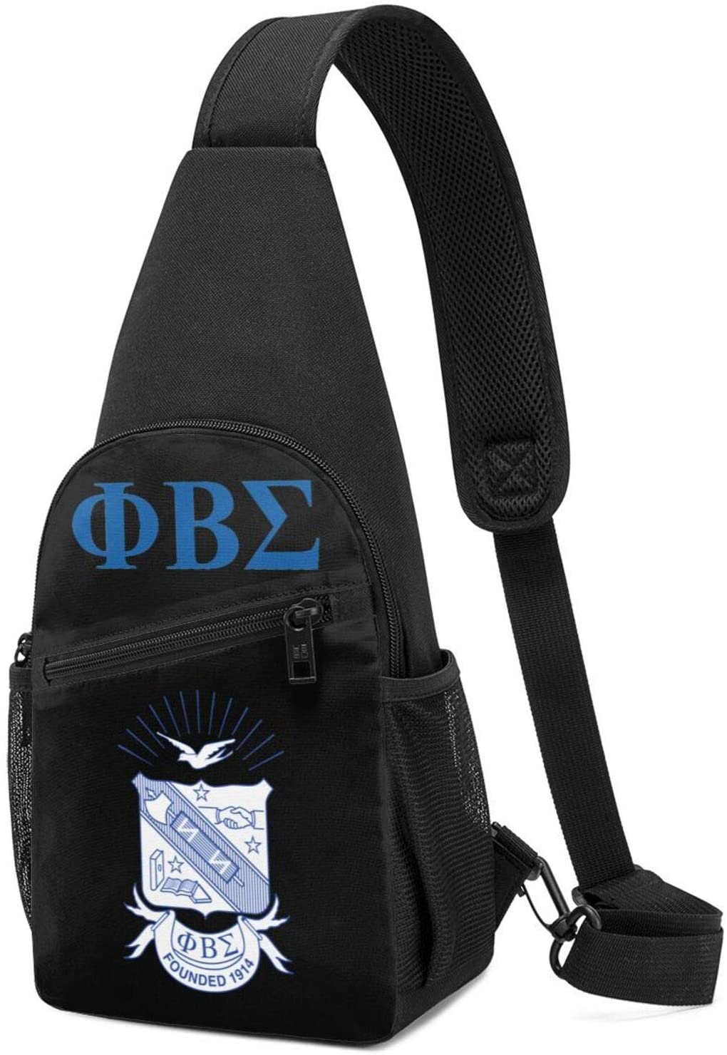 Yearzimn Phi Beta Sigma Men's and Women's Shoulder Bags, Chest Bag, Multi-Purpose Crossbody Military Sports Bag, Hiking Backpack
