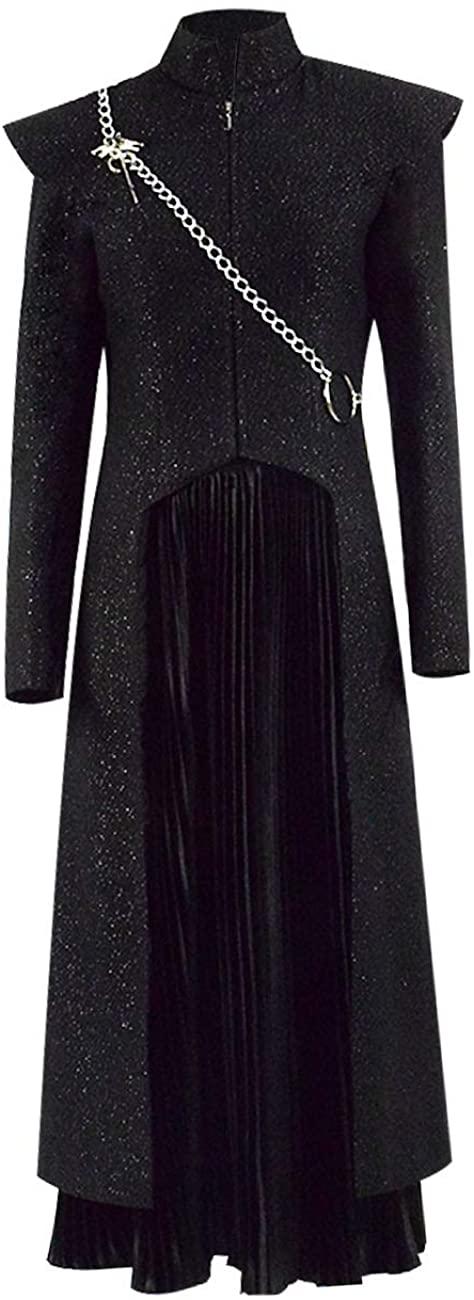 Flyer Queen Daenerys Targaryen Cosplay Costume Outfit Halloween Long Dress for Women