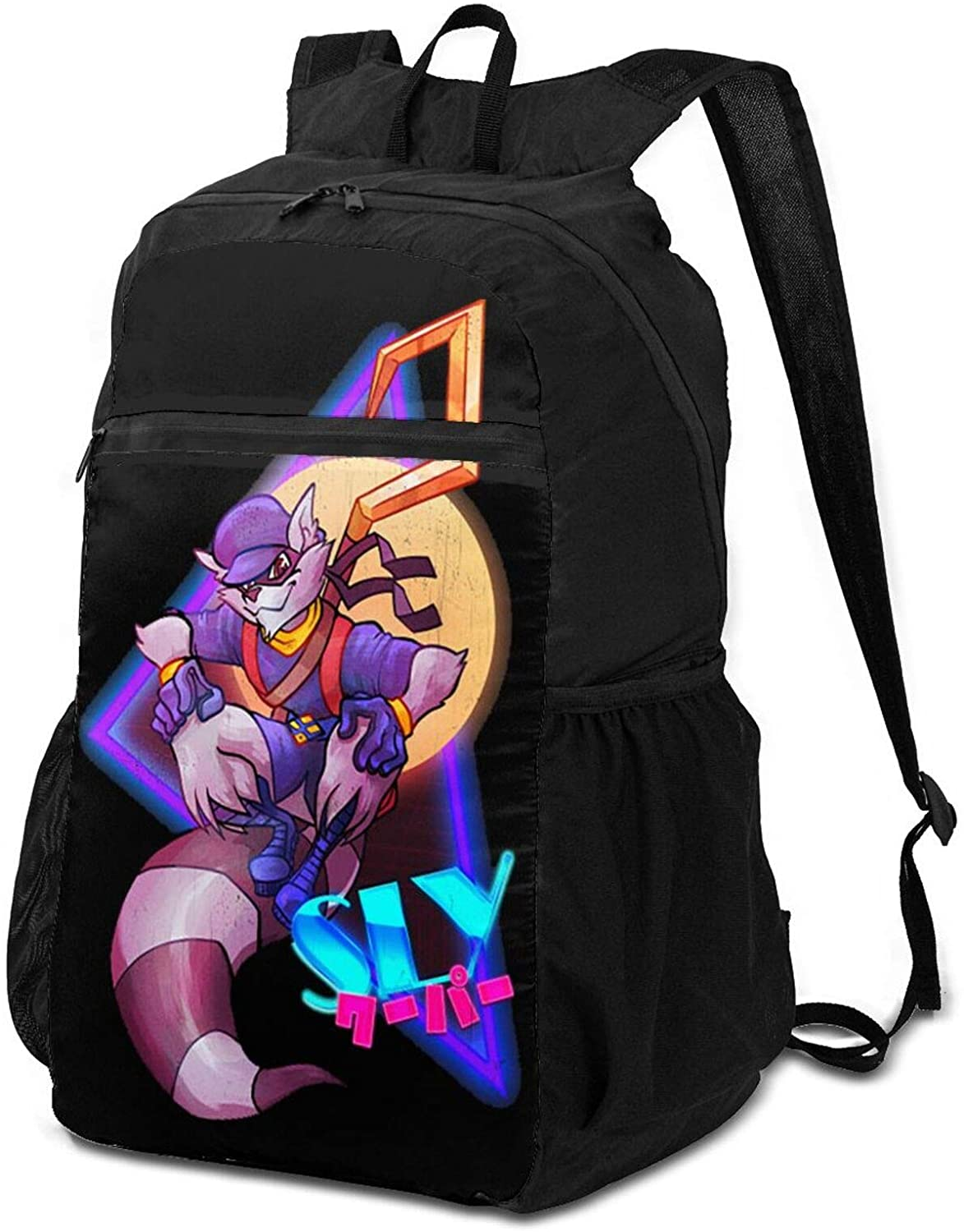 Sly Cooper Logo Outdoor Travel Waterproof And Breathable Folding Backpack
