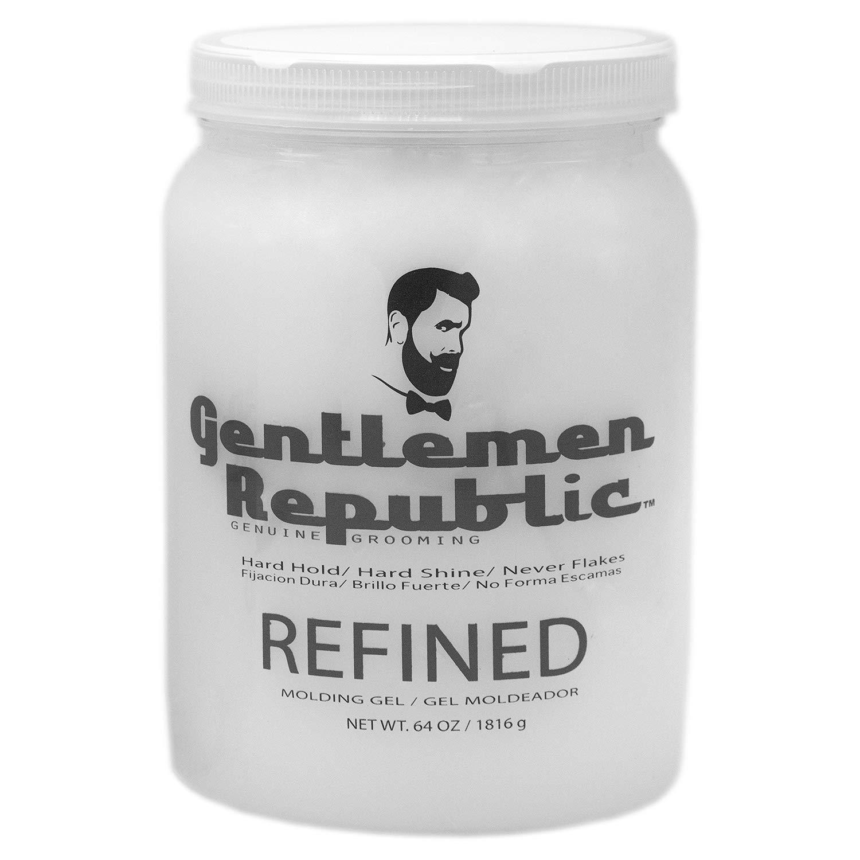 Gentlemen Republic 64oz Grooming Hard Hold & Shine Refined Mold Hair Styling Gel
