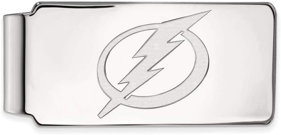 14k White Gold NHL Tampa Bay Lightning Money Clip