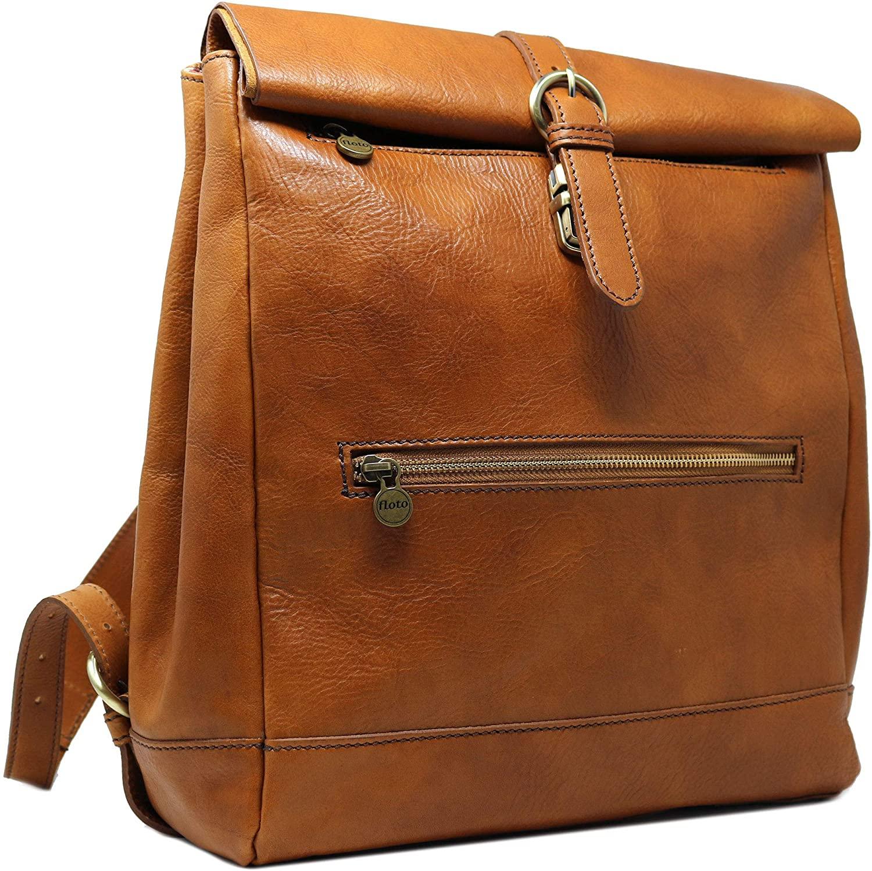 Floto Roma Roll-top Backpack Knapsack Shoulder Bag