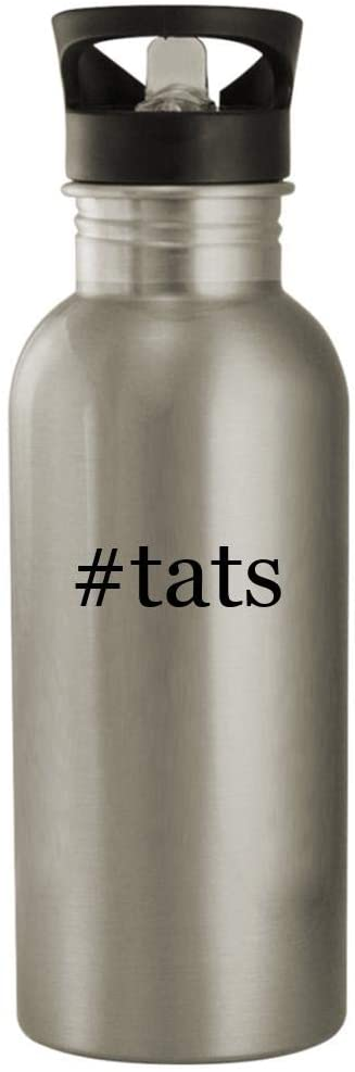 #tats - 20oz Stainless Steel Water Bottle, Silver