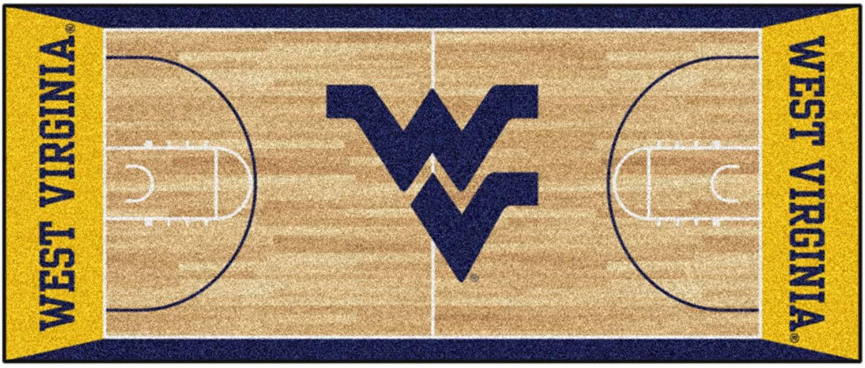 FANMATS NCAA West Virginia University Mountaineers Nylon Face Basketball Court Runner